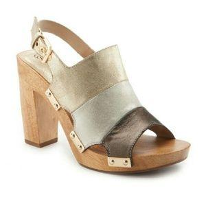 SALE!! Gold/Silver/Brown Trina Turk Heels
